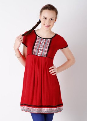 Buy Global Desi Solid, Printed Women's Tunic: Tunic