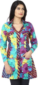 India Inc Purple Delight Women's Floral Print Casual Shirt