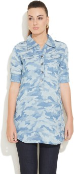 Deal Jeans Women's Printed Casual Shirt