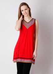 Compare Global Desi Printed, Solid Women Tunic at Compare Hatke