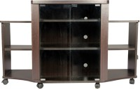 HomeTown Pacific Tv Engineered Wood Entertainment Unit (Finish Color - Walnut)