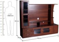 Kurlon 443/Carlos TV Unit/English Teak Engineered Wood TV Stand (Finish Color - English Teak)