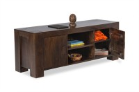 Smart Choice Furniture Solid Wood Entertainment Unit (Finish Color - Walnut) - TVUEBTQRW8C8MXRD