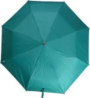 Fendo 3 Fold Nylon Fabric H/O Ladies Green Umbrella Umbrella (Green)