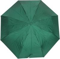 Aaa Store Aaa 3 Fold Dark Green Plain Fancy Umbrella (Green)