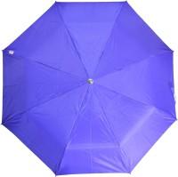 Fendo 3 Fold Nylon Fabric H/O Ladies Purple Umbrella Umbrella (Purple)