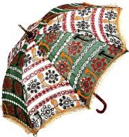 Rajrang Ethnic Umbrella (Green, White)