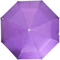 Fendo 3 Fold Nylon Fabric H/O Ladies Violet Umbrella Umbrella (Violet)