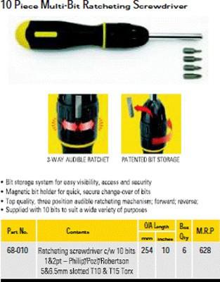 Black & Decker 68-010- Multi Bit Ratcheting Screwdriver Vacuum Cleaner