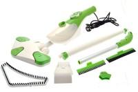 Kawachi Kawachi 6 In 1 Steam Master Mop Hand Held Cleaner Floor Carpet Microfibre Pads X6 (Green)
