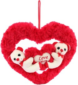DealBindaas Couple On Heart Valentine Stuff Teddy - 210 mm