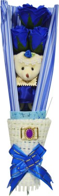 Bird In Blue Love Story Soap Flower HSFS004 Valentine Gift Set