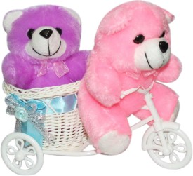 CTW Most Beautiful Couple TeddyBear with Running Cycle Gift Pack Gift Set