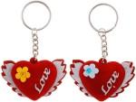 Bigcart Sweet Love Heart Key Chain Valentine Gift Set
