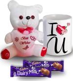 SKY TRENDS SKY TRENDS I Love You Mug Teddy and Chocolate Valentine Gift Set Valentine Gift Set