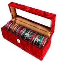 Addyz Jewelry Bangle Box Transparency-1 Rod Jewelry Storage Vanity Box (Maroon)