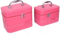 Styler Leather Look Combo Makeup Vanity Box (Magenta Pink)