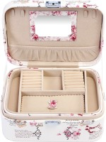 Uberlyfe Double Level Vintage Style Illustrious Italy Design Jewellery Box Vanity Case (Beige)