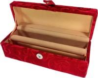 Addyz Jewelry Bangle Box Plain-1 Rod Jewelry Storage Vanity Box (Maroon)
