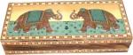 R S Jewels Vanity Boxes R S Jewels Elephant Gem Stone Painting Jewellery Vanity Multi Purpose