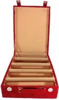 Addyz Jewelry Bangle Box Plain-4 Rods Jewelry Storage Vanity Box (Maroon)