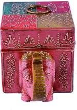 Big Homes Vanity Boxes Big Homes Handmade Elephant Shaped Wooden Multipurpose Jewellery Vanity Box