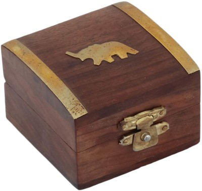 Craft Art India Vanity Boxes Craft Art India Beautiful Handmade Wooden Storage For Rings With Embossed Brass Elephant Jewellery Vanity Case