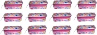 Addyz Pack Of Twelve Vanity Cosmetic Bag Jewelry Organizer Makeup Storage Jewellery Vanity Multi Purpose (red)