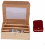 Kuber Industries Vanity Boxes Kuber Industries Bangle Three Roll & Earing Box Jewellery Vanity Multi Purpose