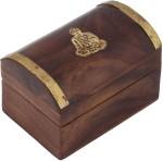 Craft Art India Vanity Boxes Craft Art India Handmade Wooden Storage With Embossed Brass Buddha Jewellery Vanity Multi Purpose