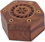 Craft Art India Vanity Boxes Craft Art India Beautiful Handmade Hexagonal Wooden Storage For Rings With Embossed Brass Camel Jewellery Vanity Case