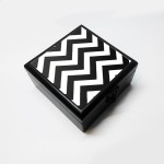 Merchbay Vanity Boxes Merchbay Black Chevron Accessory Box | Artist: Oliver Jewellery, Make up, etc. Vanity Jewellery