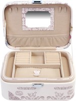 Uberlyfe Travel Friendly Perfect Paris Memento Jewellery Box Vanity Multi Purpose (Beige)
