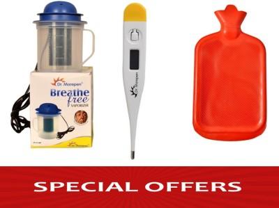 Dr. Morepen Vaporizers Dr. Morepen Dr Morepen Steamer+Thermometer+ Hot Water Bag Vaporizer