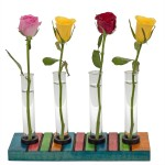 Hashcart Quirky Colorful Wooden Test Tube Planter Table Décor