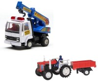 A R Enterprises Combo Of 2 Construction Vehicles (Multicolor)