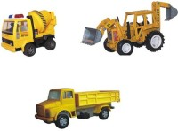 A R ENTERPRISES CONSTRUCTION COMBO OF JCB CONCRETE MIXER & TRUCK (Multicolor)