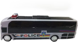 Wishkey Bump N go action Police Bus With 3D Lights