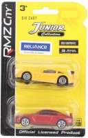 RMZ City Chevrolet Corvette C6 R And Nissan GT R Car Toys Yellow And Red - Pack Of 2 (Yellow, Red)