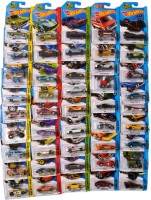Hot Wheels Vehicle Models Set Of 45 (Red, Green, Yellow, Blue)