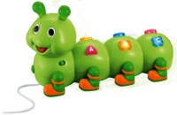 Winfun Pull-Along Caterpillar (Green)