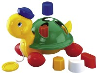 Simba Play And Learn Pull Along Turtle (Multicolor)