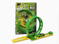 Khareedi Ben 10 Racing Car With Track (Green)