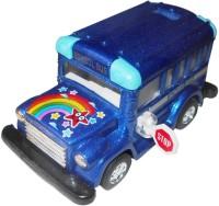 Smart Picks Kinsfun 4 Inch School Diecast Bus (Multicolor)