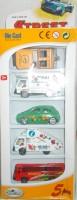 Shop & Shoppee Die Cast Vehicle Set With 5 Different Cars (Multicolor)