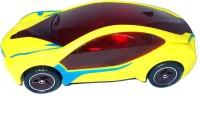 PremK 3D Lights Sports Car (Yellow, Black)