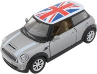 Tootpado Sports Model Metal Toy Car With Pull Back Mechanism - Grey - (1c351) Playing Cars For Kids Mini Cooper (Grey)