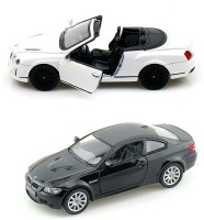 I-Gadgets Kinsmart Bentley Continental White And Bmw M3 Coupe (White, Black)