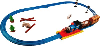 Vaibhav Battery Operated Happy Travel Thomas Track Toy Train Set (Multicolour)