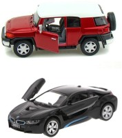 Kinsmart Toyota FJ Cruiser And BMW I8 Mini Model (Multicolor)